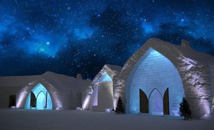 Quebec\ I ndërtuar i gjithi nga akulli, ju prezantojmë hotelin me të ftohtë në botë