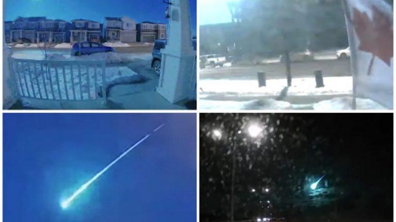 KANADA, drita e pazakontë në qiell habit qytetarët, ekspertët konstatojnë meteor në Kalgari (Video)