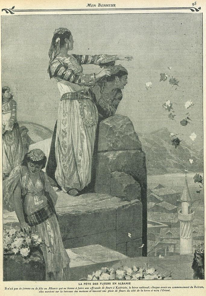 """REVISTA FRANCEZE (1910) / """"FESTA E LULEVE"""" NË SHQIPËRI DEDIKUAR GJERGJ KASTRIOTI. ÇFARË BËJNË SHQIPTARËT NJË DITË PARA DHE GJATË SAJ"""